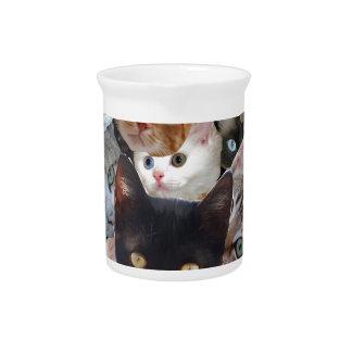 Collage del gatito jarras