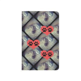 Collage del gato con Pawprints Cuaderno Grapado