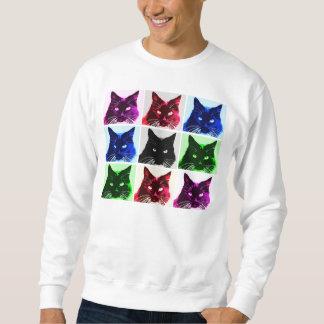 Collage del gato sudadera