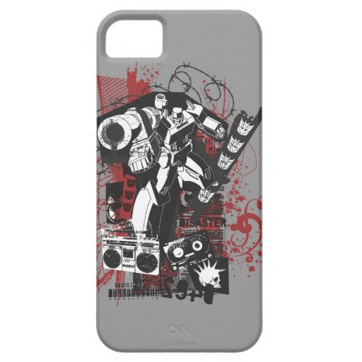 Collage del Grunge de Megatron Funda Para iPhone 5 Barely There