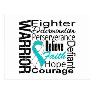 Collage del guerrero del cáncer de cuello del úter postal