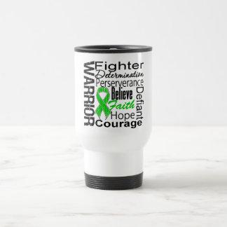 Collage del guerrero del cáncer del riñón verde taza de café