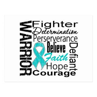 Collage del guerrero del cáncer ovárico postal