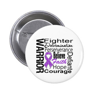 Collage del guerrero del cáncer pancreático pin redondo 5 cm