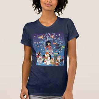 Collage del invierno de Kitsu Camiseta