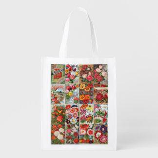 Collage del jardín de los paquetes de la semilla bolsas de la compra