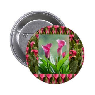 Collage del JARDÍN: Flores hermosas Pin Redondo 5 Cm