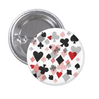 Collage del juego de la tarjeta del vintage - rojo pin redondo de 1 pulgada