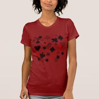 Collage del juego de la tarjeta del vintage - rojo camiseta