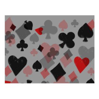 Collage del juego de la tarjeta del vintage - rojo postal