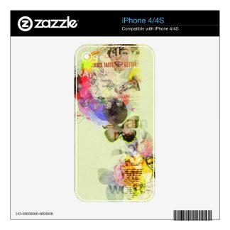 Collage del kitsch en amarillo iPhone 4 skins