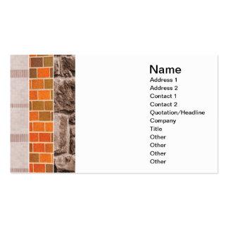 collage del ladrillo o de la piedra tarjetas de visita