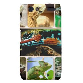 Collage del lagarto droid RAZR fundas