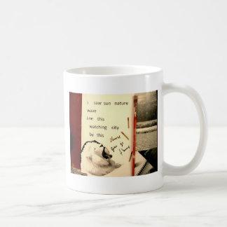 collage del león del fantasma taza de café