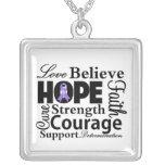 Collage del linfoma de Hodgkins de la esperanza Joyeria Personalizada