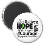 Collage del linfoma de la esperanza iman para frigorífico