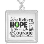 Collage del linfoma Non-Hodgkin de la esperanza Colgante Cuadrado
