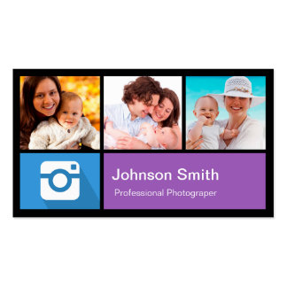 Collage del marco de la foto del fotógrafo - estil tarjeta de negocio