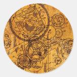 Collage del mecanismo pegatina redonda