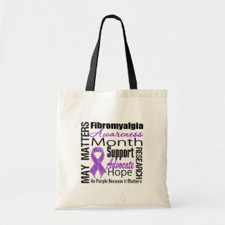 Collage del mes de la conciencia - Fibromyalgia Bolsas
