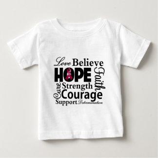 Collage del mieloma múltiple de la esperanza playera para bebé