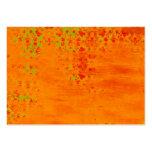 Collage del modelo del color del naranja y de la tarjetas de visita