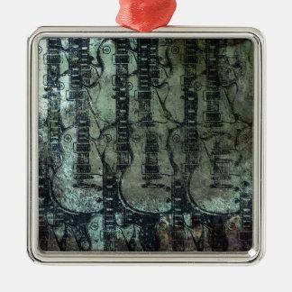 Collage del negro del verde del trullo de la guita adorno