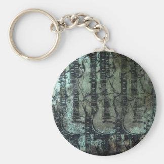 Collage del negro del verde del trullo de la guita llaveros personalizados
