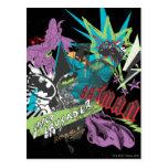 Collage del neón del cruzado de Batman Caped Postales