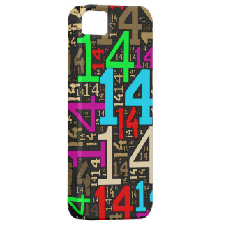 Collage del número 14 funda para iPhone 5 barely there