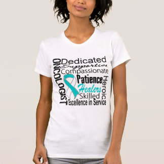 Collage del oncólogo del cáncer de cuello del camiseta