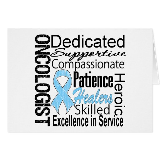 Collage del oncólogo del cáncer de próstata tarjeta de felicitación