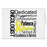 Collage del oncólogo del sarcoma tarjeta de felicitación