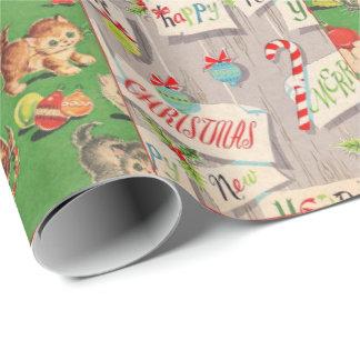 Collage del papel de embalaje del día de fiesta papel de regalo