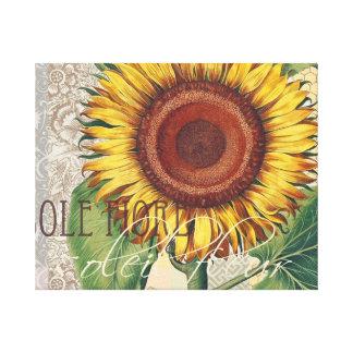 Collage del papel pintado del damasco del vintage lienzo envuelto para galerias