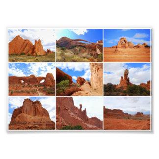 Collage del parque nacional de los arcos cojinete