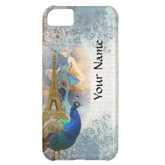 Collage del pavo real de París Carcasa Para iPhone 5C