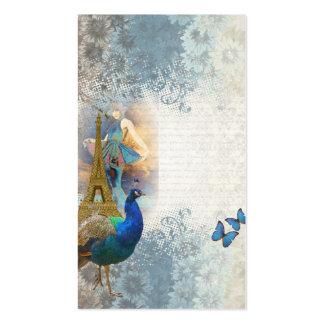 Collage del pavo real de París Tarjetas De Negocios