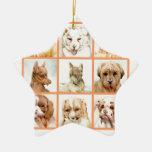 ¡Collage del perro del bebé - LINDO ESTUPENDO! Ornamento Para Reyes Magos