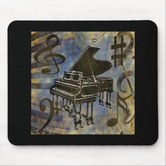 Collage del piano de cola mouse pads