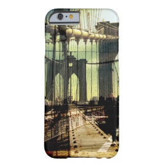 collage del puente de Brooklyn, NYC Funda De iPhone 6 Barely There