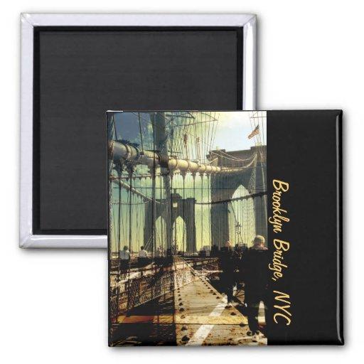 Collage del puente de Brooklyn, NYC Imanes Para Frigoríficos