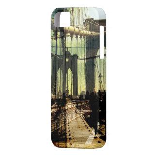 collage del puente de Brooklyn, NYC iPhone 5 Carcasas