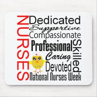 Collage del reconocimiento de las enfermeras:  El  Alfombrillas De Ratones