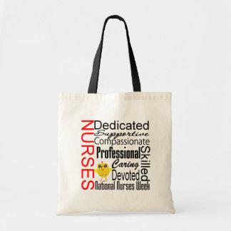 Collage del reconocimiento de las enfermeras:  El  Bolsa Lienzo