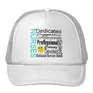 Collage del reconocimiento de las enfermeras - el  gorra