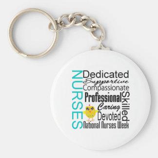 Collage del reconocimiento de las enfermeras - el  llaveros personalizados