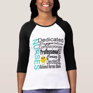 Collage del reconocimiento de las enfermeras - el t shirt