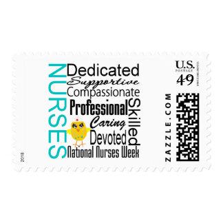 Collage del reconocimiento de las enfermeras - el sellos