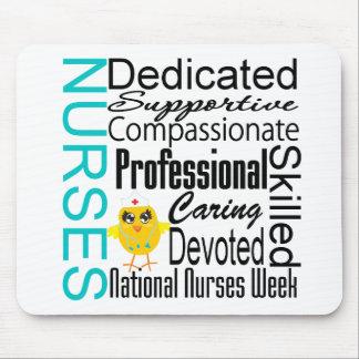 Collage del reconocimiento de las enfermeras - el  tapetes de ratón